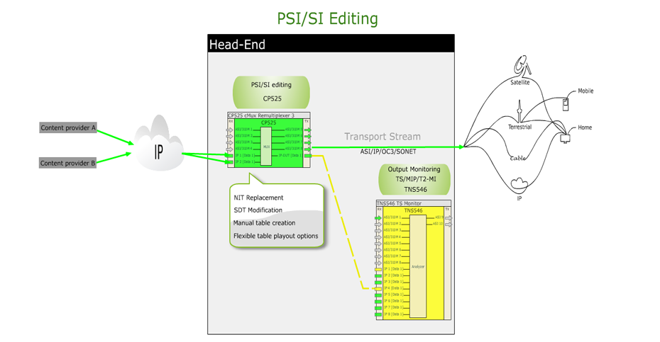 Remultiplexing and PSI SI Editing