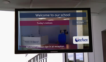 Digital signage for education