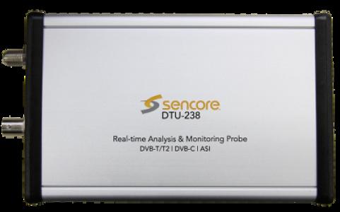 USB2.0 DVB-T/T2, DVB-C and ASI Probe - Sencore DTU-238