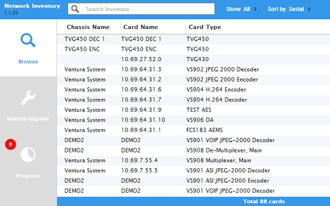 VideoIPath Inventory